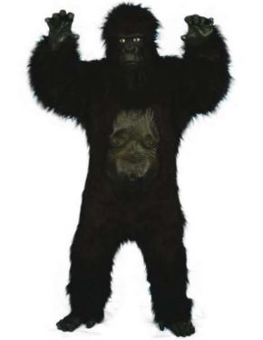 Gorilla Costume - Fancy Dress Gorilla Suit - Super Deluxe Suit